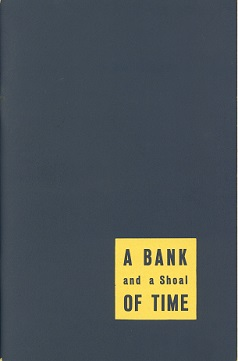 Cover of the book A Bank and a Shoal of Time published by the First National Bank of Fort Worth, 1961