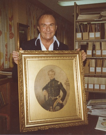 Arvin William Turner with portrait of General William Jenkins Worth, undated