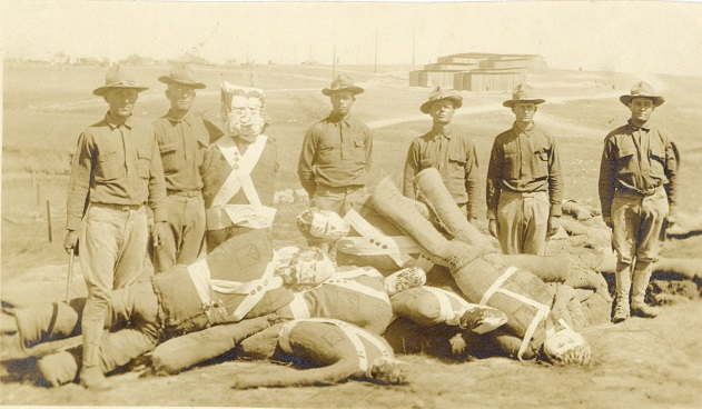 Camp Bowie soldiers with dummy targets