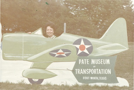 Joyce Pate Capper at the Pate Museum of Transportation, 1976