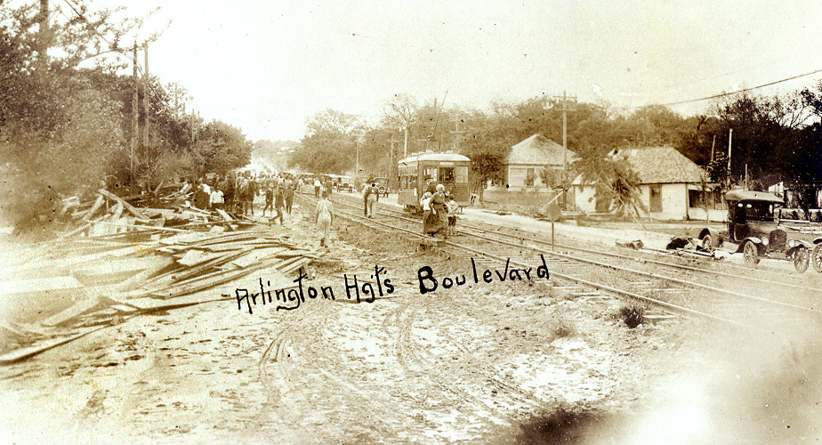 Arlington Height Boulevard in 1922 flood