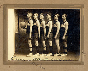 Basketball Team 1916 Seymour Texas