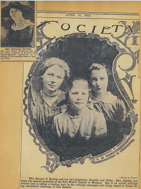 Mrs. Stanley Boykin with her daughters Camilla and Clota. Click to view a larger version of image.