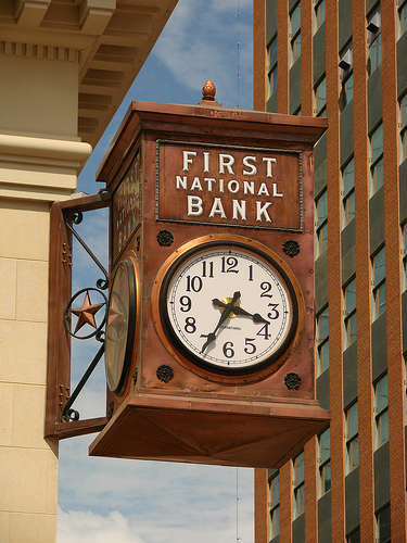 First National Bank Fort Worth Clock