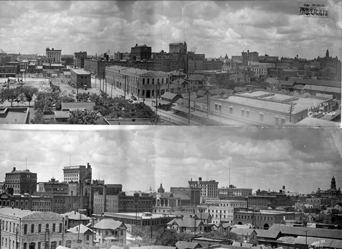 View of the Fort Worth business district, 1911