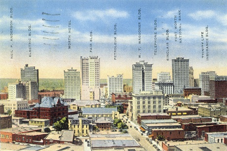 Fort Worth skyline, circa 1935