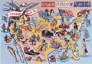 Illustrated Map of United States