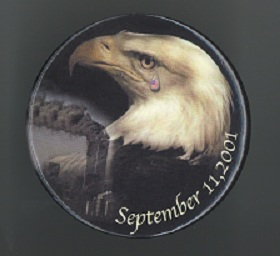 September 11th eagle button