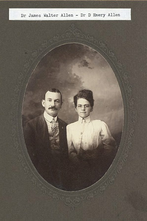 Dr. James Walter Allen and Dr. Daisy Emery Allen