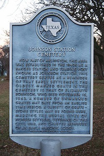 Johnson County Cemetary Marker