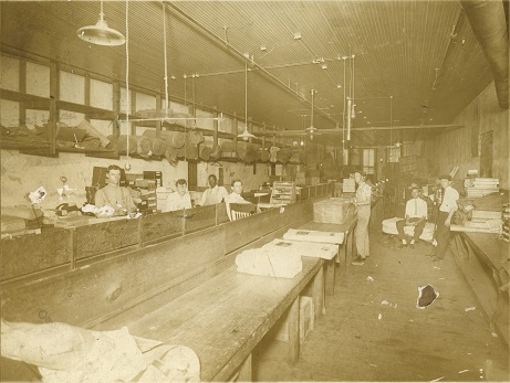 Interior view of Monnig's Dry Goods Store