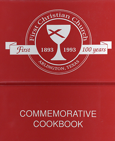 First Christian Church of Arlington Commemorative Cookbook cover