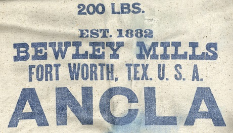 Portion of Bewley Mills Flour Sack