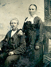 Grandfather George Robertson and first wife Laticia Anne Robertson
