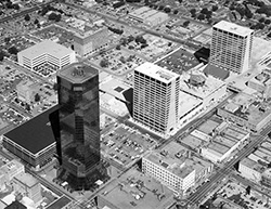 Tandy Center 1980 before Plaza Building
