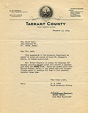 WWC Tarrant County Letter