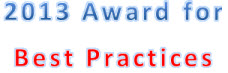2013 Award for Best Practices