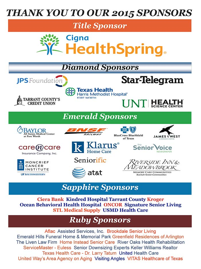 Thank You to our 2015 Sponsors