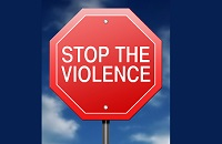 Stop the violence sign