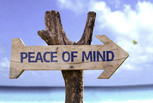 Peace of Mind post sign
