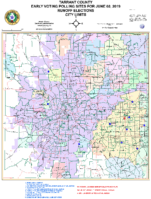 June 8, 2019 Joint Runoff Early Voting Locations Map