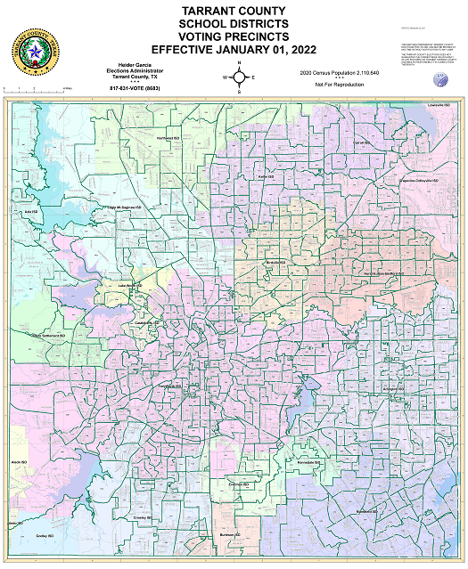Independent School Districts in Tarrant County Map