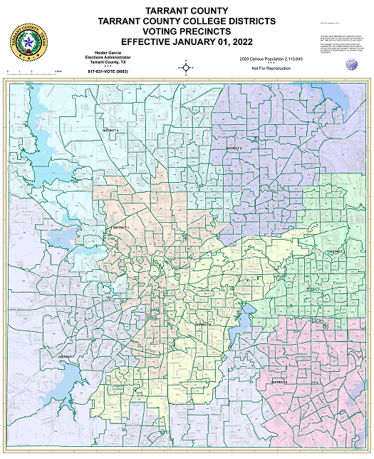 Tarrant County College Districts All Map