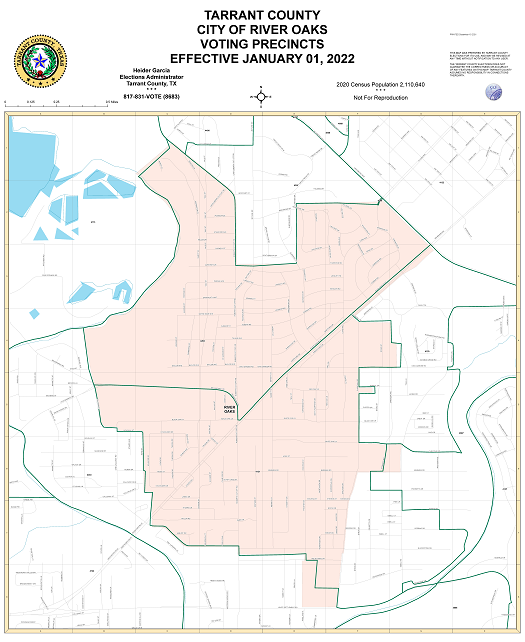 City of River Oaks Map