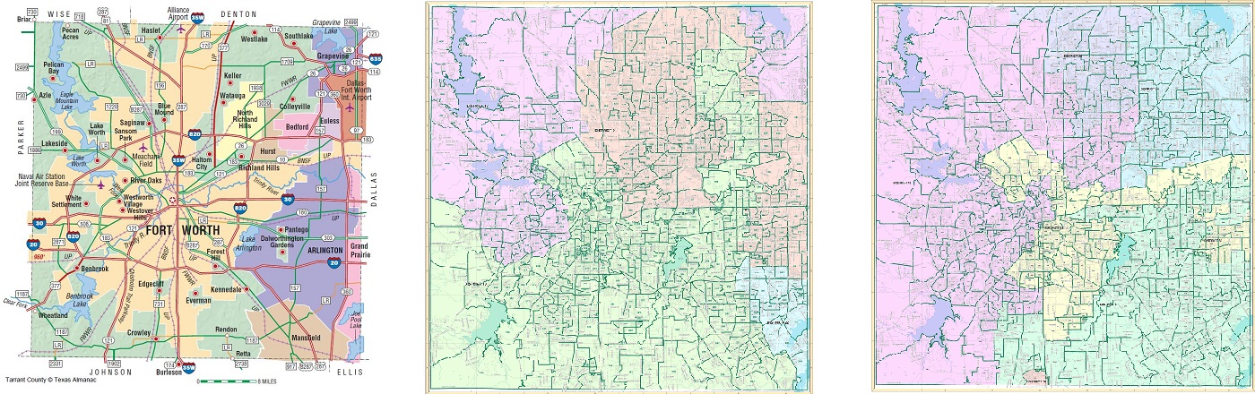 Map Of Tarrant County Texas Maps