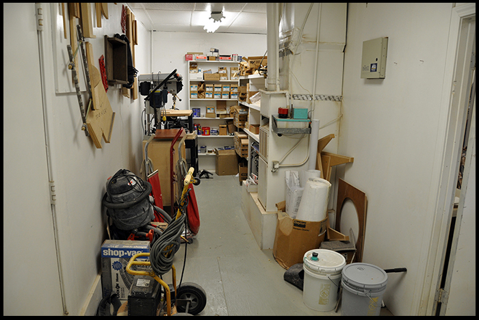 Small Parts Storage Area