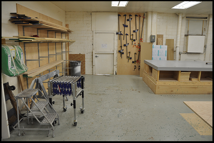 Main Work Area (Wood Shop) (hand tools and prep area)