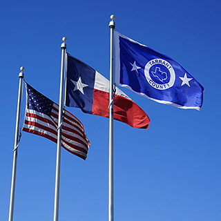 Flags Tarrant County, Texas, US