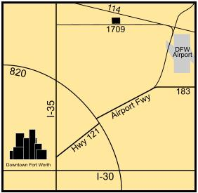 Map of Southlake Subcourthouse