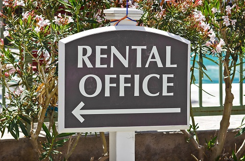 Rental Office Sign