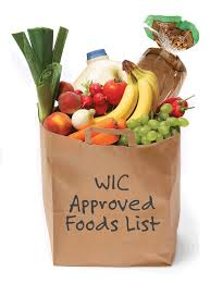 WIC Approved Foods grocery bag