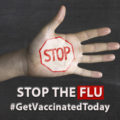 Stop the flu, Get vaccinate today