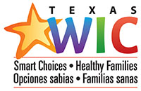 Texas WIC Program logo - Smart choices, Healthy Families