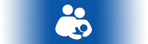 Parents and infant logo