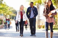 Students walking in the campus