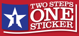 Learn about two steps one sticker