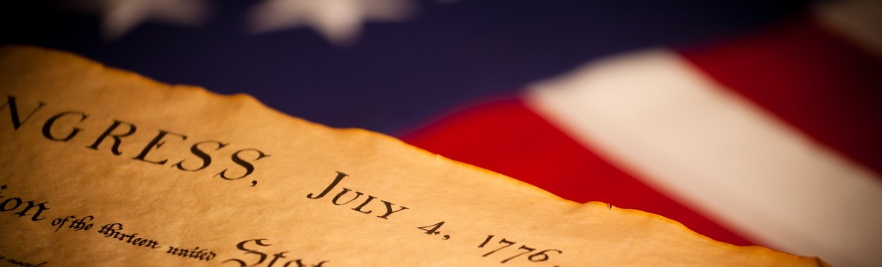 Flag and Declaration of Independence