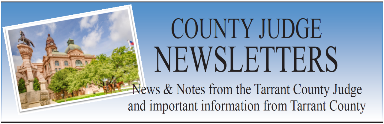 County Judge Quarterly News Letter