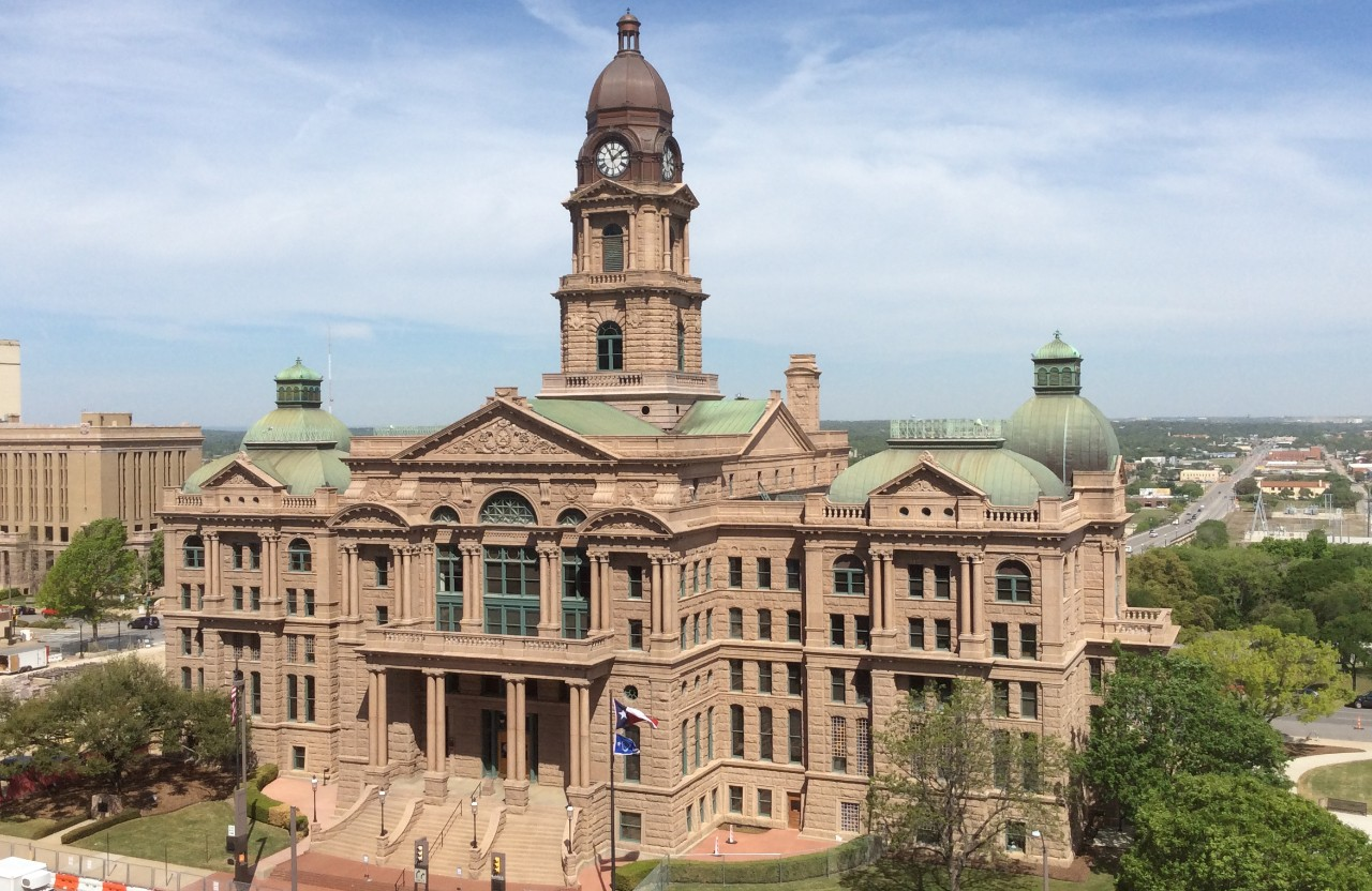 Photo of 1895 Tarrant County Courthouse