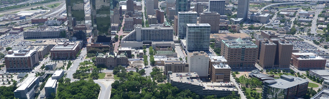Downtown TC Buildings Aerial shot