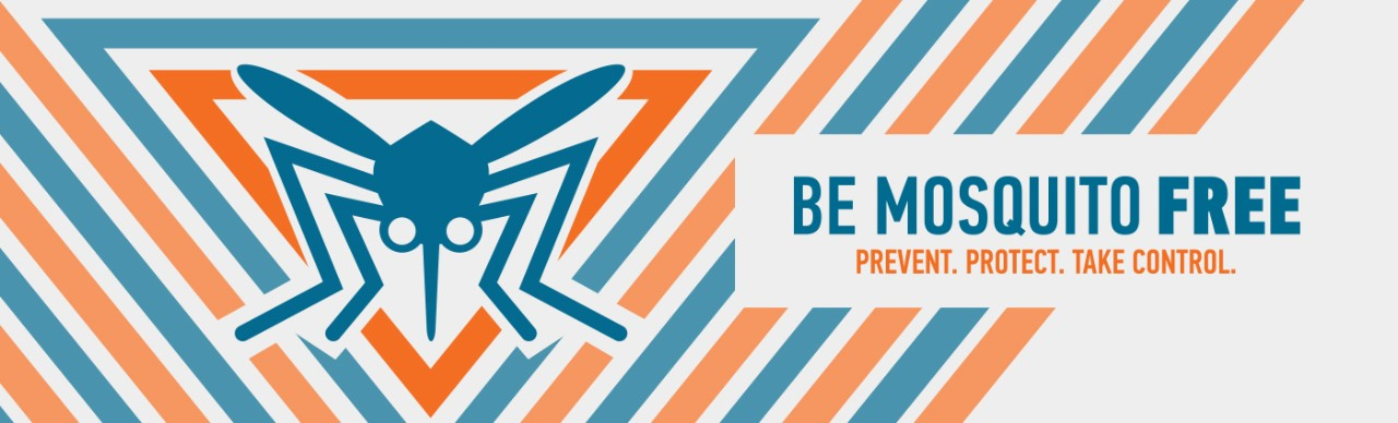 Be Mosquito Free logo; Prevent. Protect. Take Control.