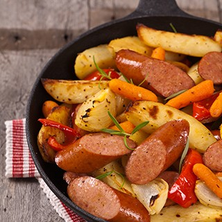 Spicy Roasted Turkey Sausage and Vegetable Stir Fry