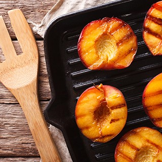 Pan Grilled Peaches