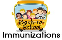 Back to School Immunizations school bus graphic