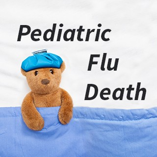 "sick teddy bear, heading ""Pediatric Flu Death"""