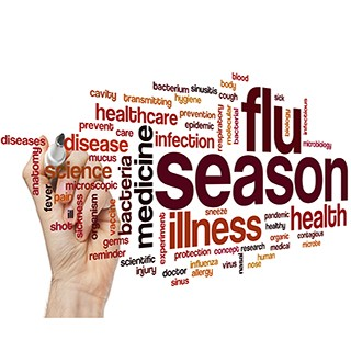 flu season word cloud